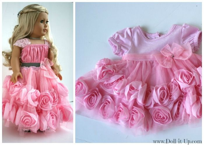 Make a doll skirt from a baby dress