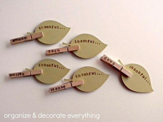 Roundup: 10 DIY Thanksgiving Place Card Tutorials » Curbly | DIY Design Community