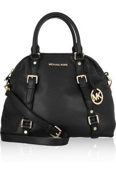 MICHAEL Michael Kors: Black Bags, Michael Michael, Black Leather, Michaelkor, Handbags Michael Kors, Michael Kors Bag, Michael Kors Purses, Michael Kors Handbags Black, Kors Bedford