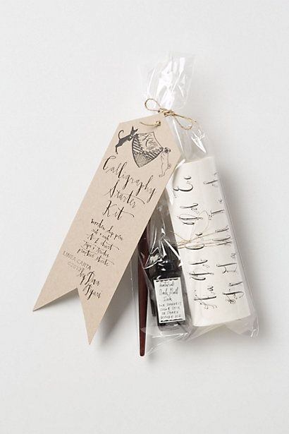 Calligraphy Set- what a perfect gift! includes a letter chart for practice! #calligraphy