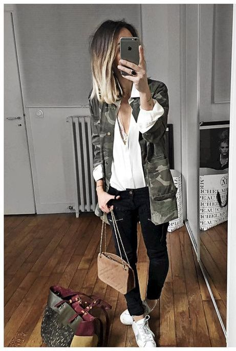 Un look de week-end militaire