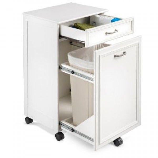 Mobile Trash Hide-a-Way Cabinet