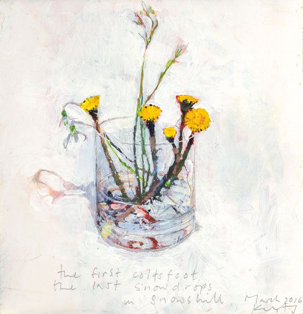 Kurt Jackson: The first coltsfoot, the last snowdrops. 2016 Campden Gallery, fine art, Chipping Campden, camden gallery, contemporary, contemporary arts, contemporary art, artists, painting, sculpture, abstract painting, gloucestershire, cotswolds, painting for sale, artwork for sale, modern art gallery, art exhibitions,arts gallery, gallery art, art gallery UK