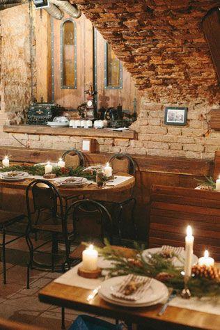 Новогодняя свадьба, декор кафе - The-wedding.ru