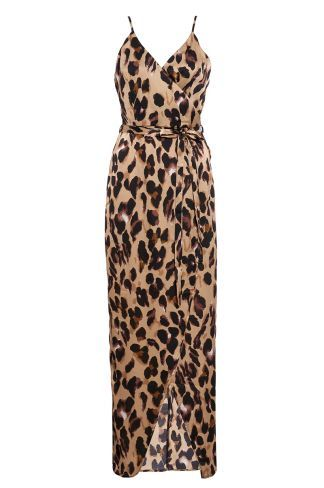 2cba9ed605 Buy Olivia s Leopard Print Wrap Maxi Dress online now from Quiz. Great  deals and free