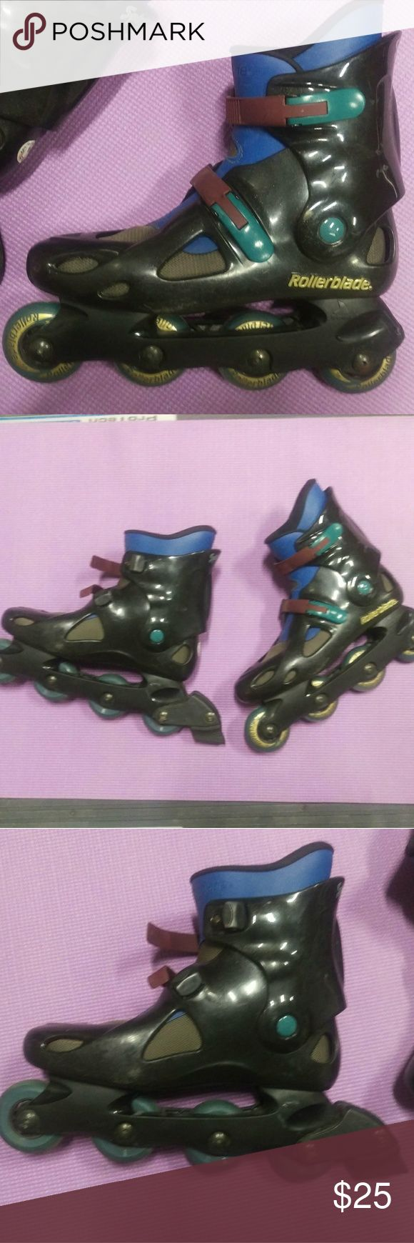 Rollerblade Spiritblade brand inline rollerblade's Rollerblade's in good used condition. Everything functions properly. Some scuffs, scratches and fading but over all great pair of blades. rollerblade Other