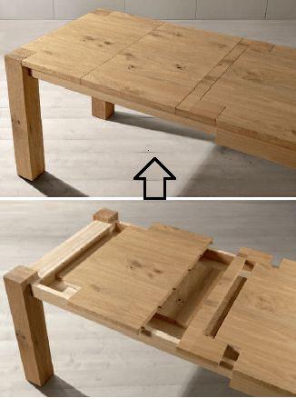 Tavolo allungabile in legno - disponibile online su www.italianArredo.it > Sezione TAVOLI SU MISURA