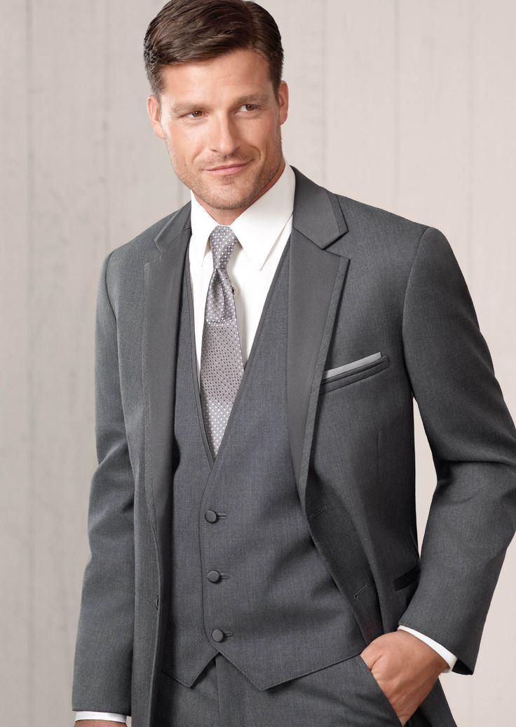 Steel Grey Twilight Two Button Notch by Jean-Yves - Tuxedos