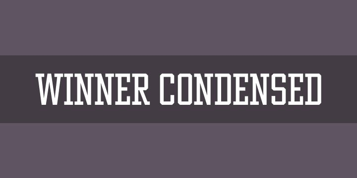 Winner Condensed Font Free by sportsfonts.com » Font Squirrel