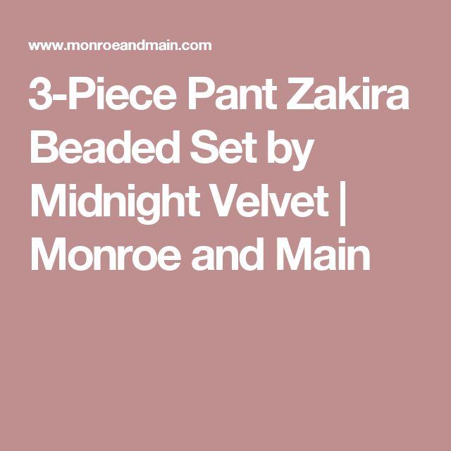 3-Piece Pant Zakira Beaded Set by Midnight Velvet | Monroe and Main
