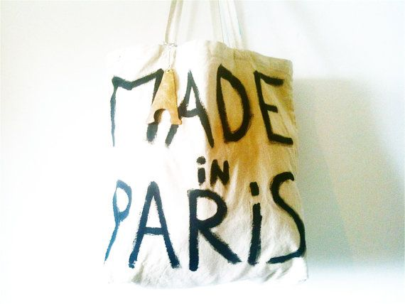 Made in Paris Large Cabas BAG / My Little by MyLittleFrenchShop, $125.00