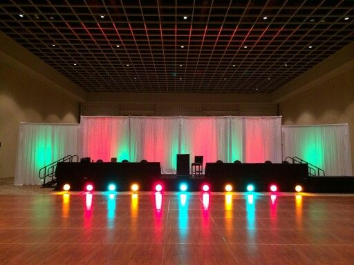 Stage Backdrop For Dance Competition With Led Lighting