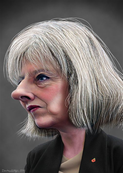 https://flic.kr/p/JpNku8 | Theresa May - Caricature | Theresa Mary May, aka Theresa May, is the Prime Minister of the United Kingdom and Leader of the Conservative Party. This caricature of Theresa May was adapted from a Creative Commons licensed photo from Policy Exchange's Flickr photostream.
