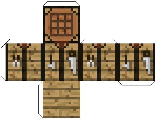 Minecraft workbench / crafting table pattern. Link has many minecraft related patterns.