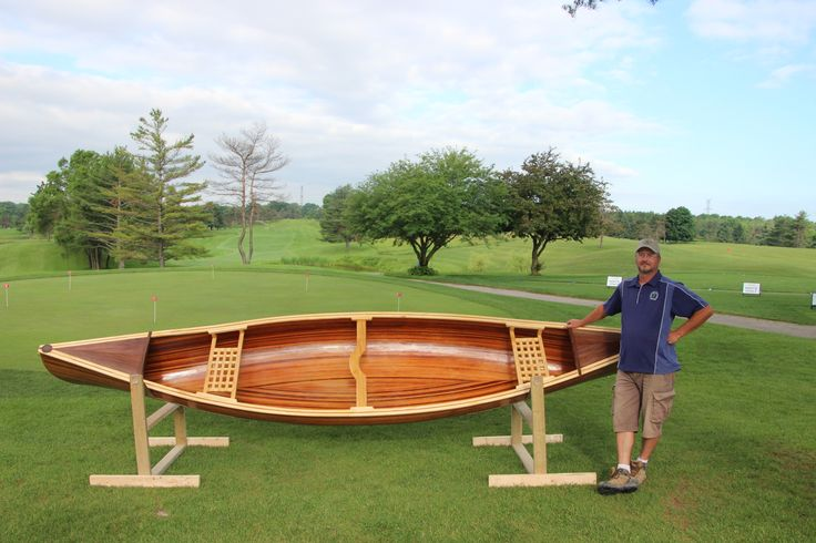 This is boat 1 from Hickory Dickory Decks. one of the builders BJ Westoby is proudly showing it off at our charity golf tournament.