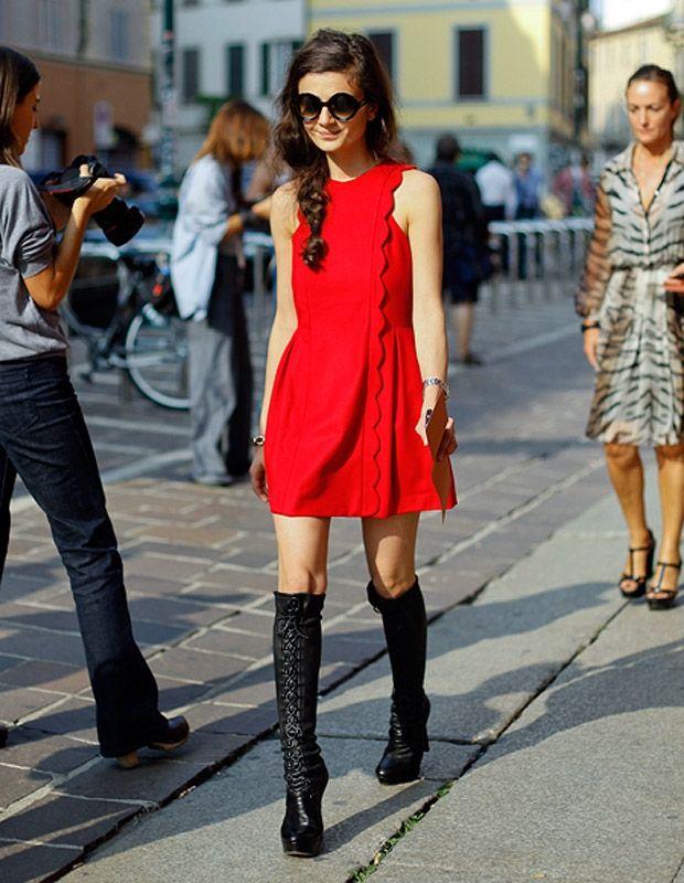 Natalia Alverdian Red Dress