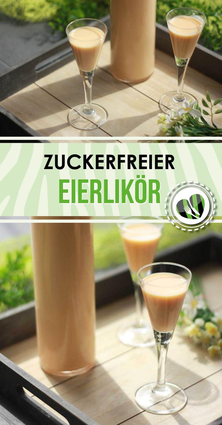 Der zuckerfreie Eierlikör ist super lecker und low carb. Natürlich auch glutenfrei. Das Rezept gibt es auf www.schwarzgrueneszebra.de
