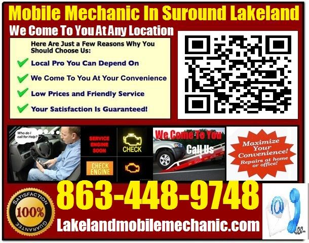 Mobile Mechanic Lakeland fl auto car repair service shop review that comes to you call 863-448-9748 or visit us at http://lakelandmobilemechanic.com/