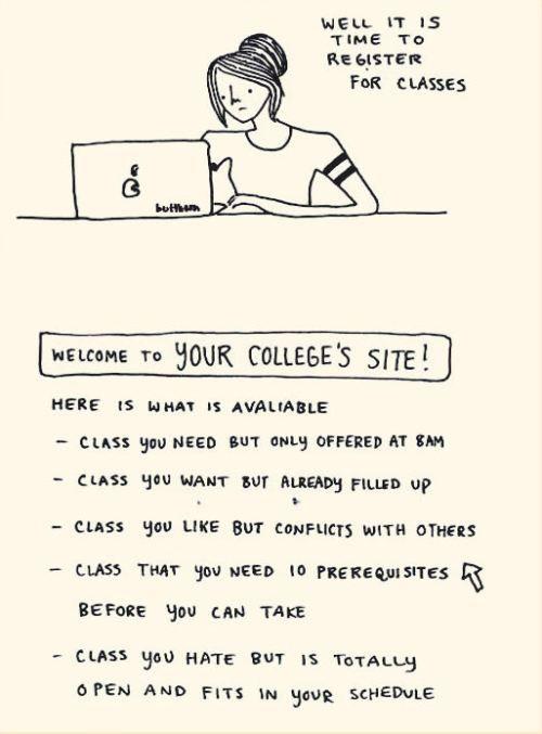 Registering for classes!