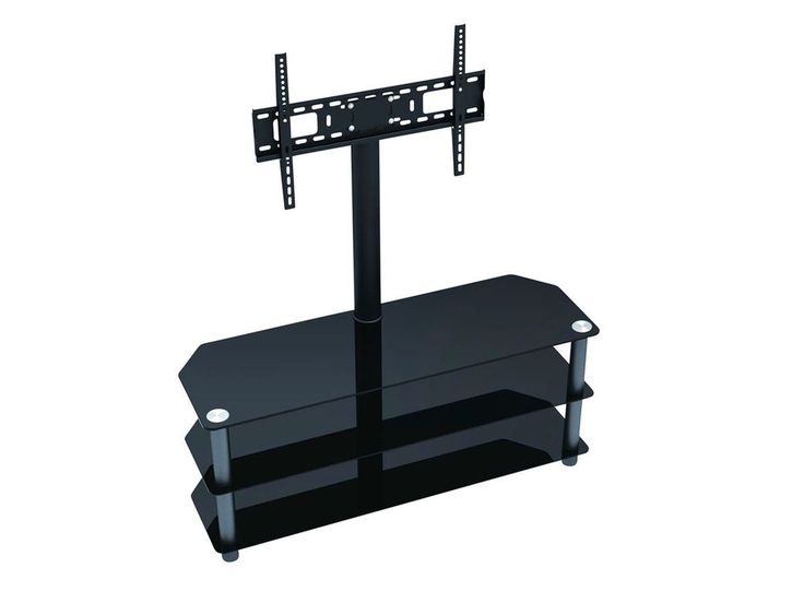 Floor TV Stand Furniture Mount With Shelves For 55 Inch & Below TVs Up To 88lbs #Monoprice