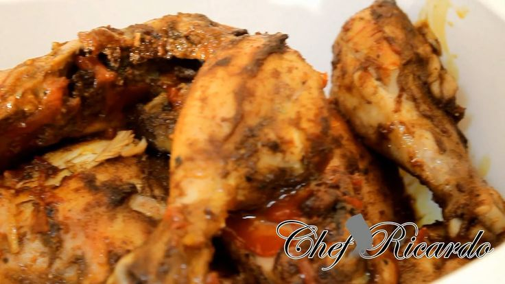 ROAST CHICKEN PIECES RECIPE IN THE OVEN (JAMAICAN COOKING) CARIBBEAN CHEF