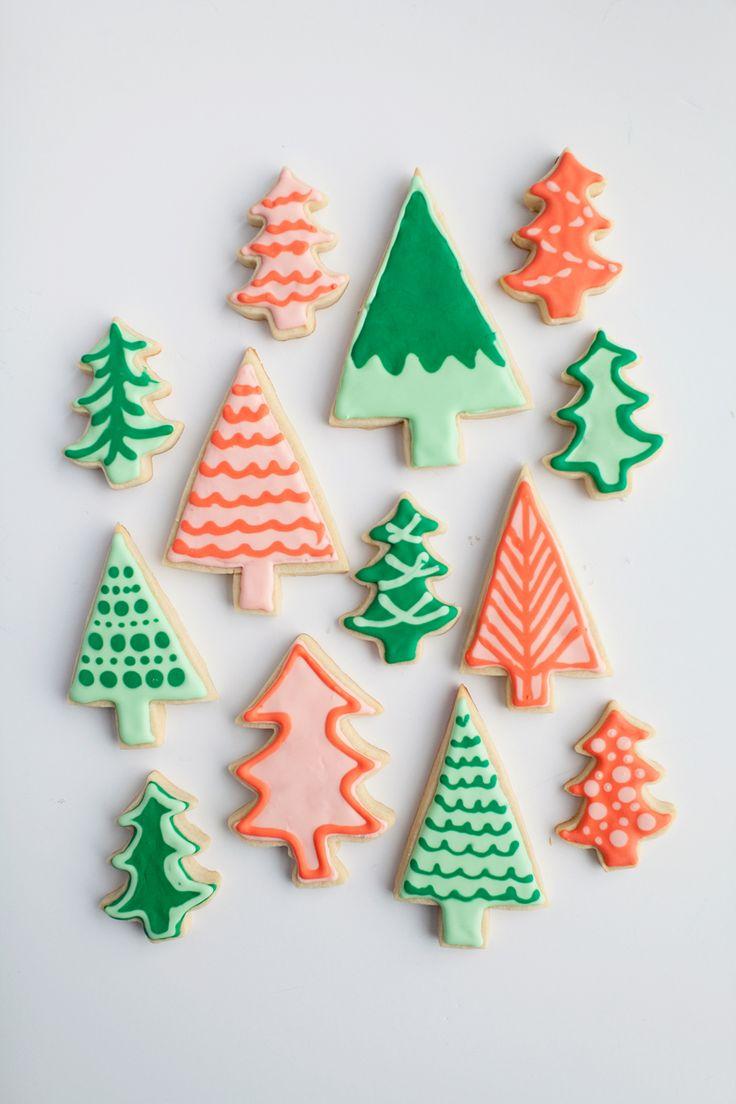 christmas tree cookies | tell love & chocolate