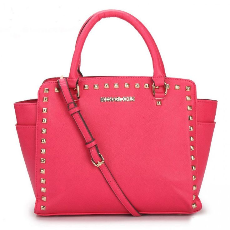 MICHAEL Michael Kors Large Selma Studded Saffiano Tote in Rose