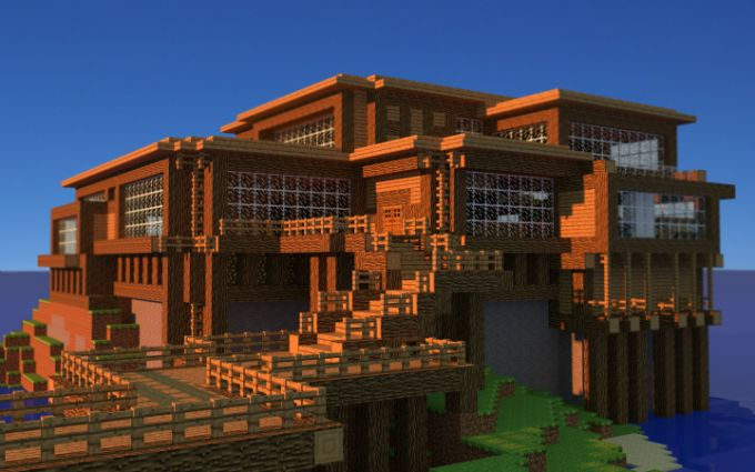 Best minecraft house ever blueprint awesome renders of a for Modern house mc