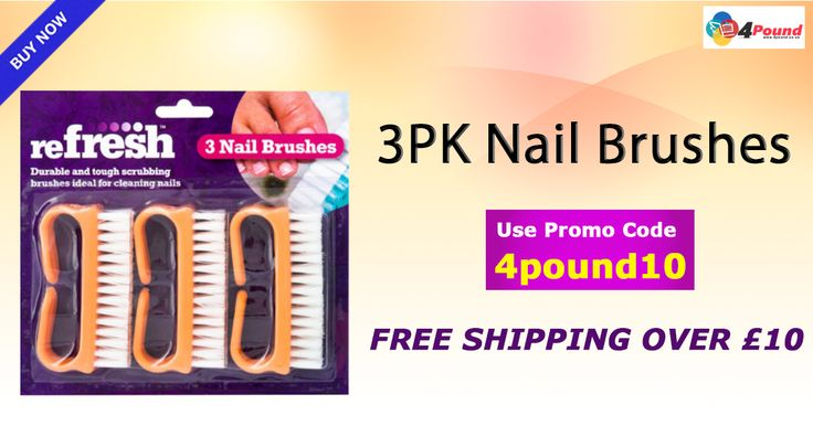 Buy best #Beauty_Products @4Pound_UK Buy #Nail_Brushes 3Pack At Cheapest Price. SHop Now : http://www.4pound.co.uk/3pk-nail-brushes