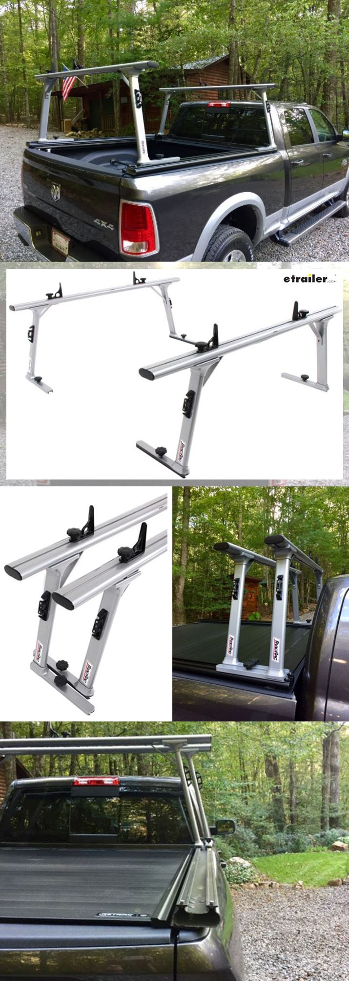 Adjustable ladder rack slides in t track base rails along the full length of your dodge ram pickup truck bed works for long loads short loads
