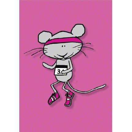 Jogging Mouse Congratulations on your 5k greeting card