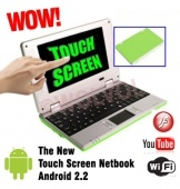 Touch Screen PC Green MINI LAPTOP 7 inch Netbook Notebook COMPUTER Built-in...      $179.99 | $109.99