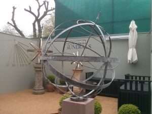 Three new Sundials for Chelsea! This new armillary sphere is made from bronze, with Polar Region and tropics spheres. http://www.bordersundials.co.uk/three-new-sundials-for-chelsea/