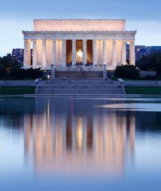 I have been to the Lincoln Memorial, Washington, D.C. I don't remember it too well so i want to go back one day!