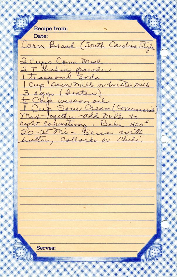 Old Recipe for Scratch Cornbread. ☀CQ #southern