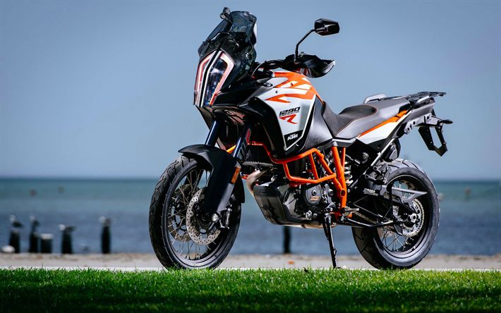 Download wallpapers KTM 1290 Super Adventure R, superbikes, 2017 bikes, austrian motorcycles, KTM