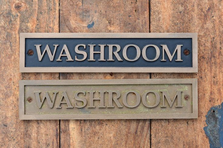 WASHROOM Door Sign. Unisex Toilet Door sign Victorian, New, Old Style Rustic Western Home Country. Cafe Decor, Hand Cast Bronze Resin Plaque by TomsNewOldThings on Etsy https://www.etsy.com/au/listing/554970010/washroom-door-sign-unisex-toilet-door