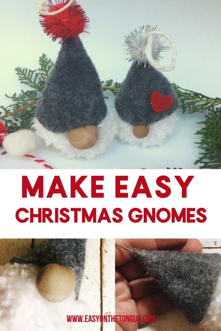 Make a stupid easy Christmas Gnome for your tree   Simple ...