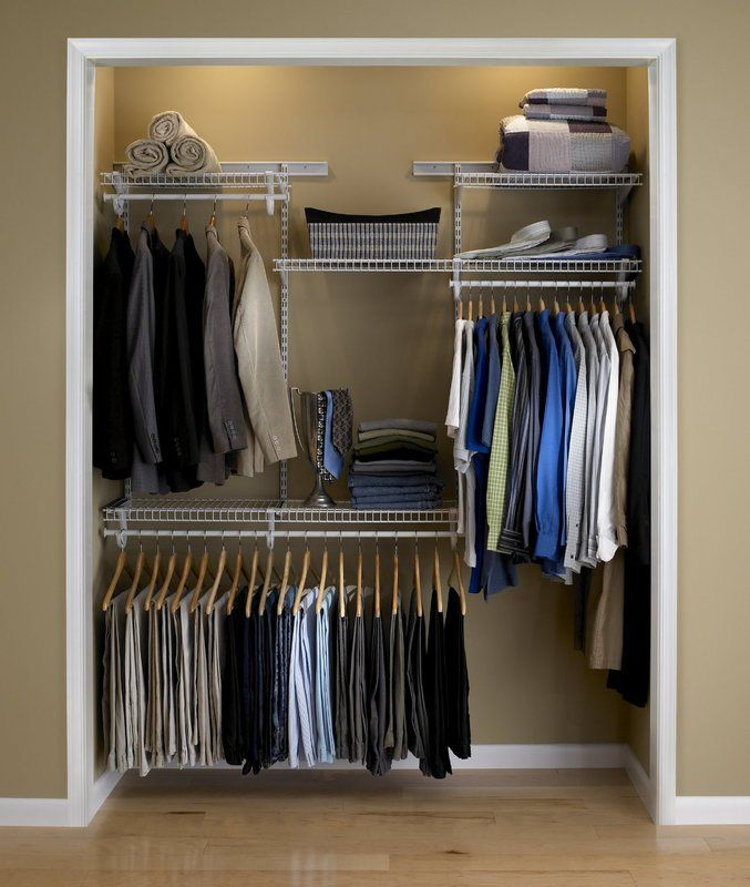 Adjustable Clothes Storage System Up To 183cm Wide Cheap Closet