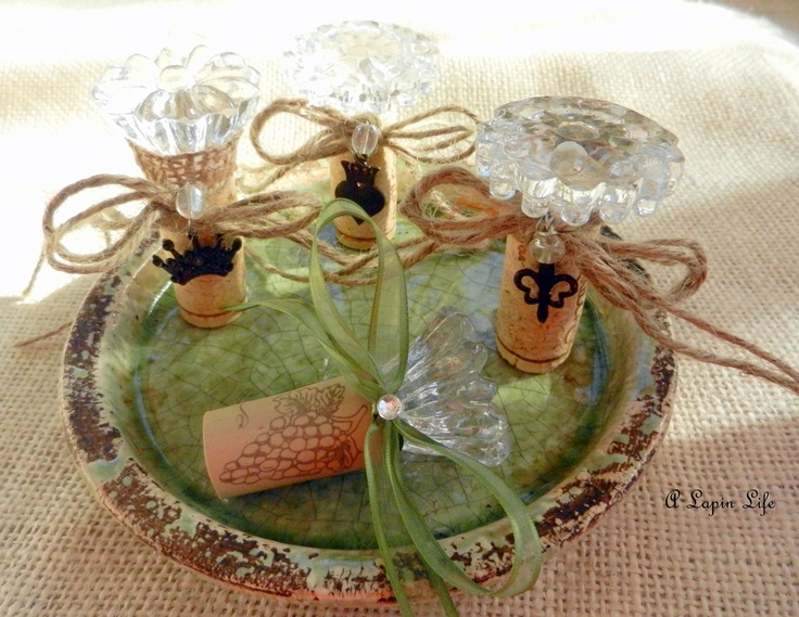 make your own wine corks with glass knobs tutorial