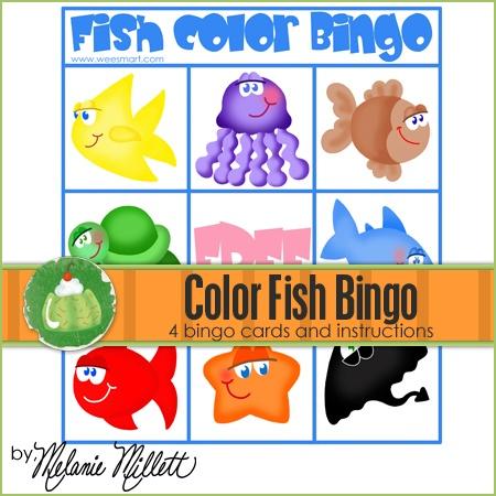 Fish Color Bingo Printable Game | Early Learning Fun ...