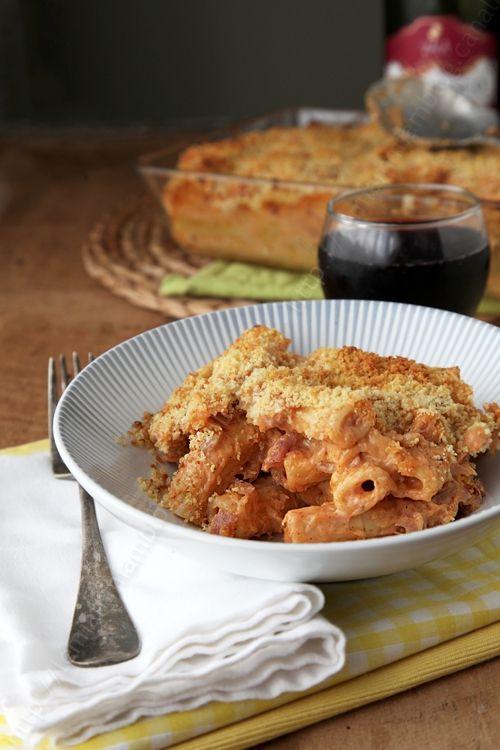 Le gratin de pâtes, ou mac & cheese au jambon de pays