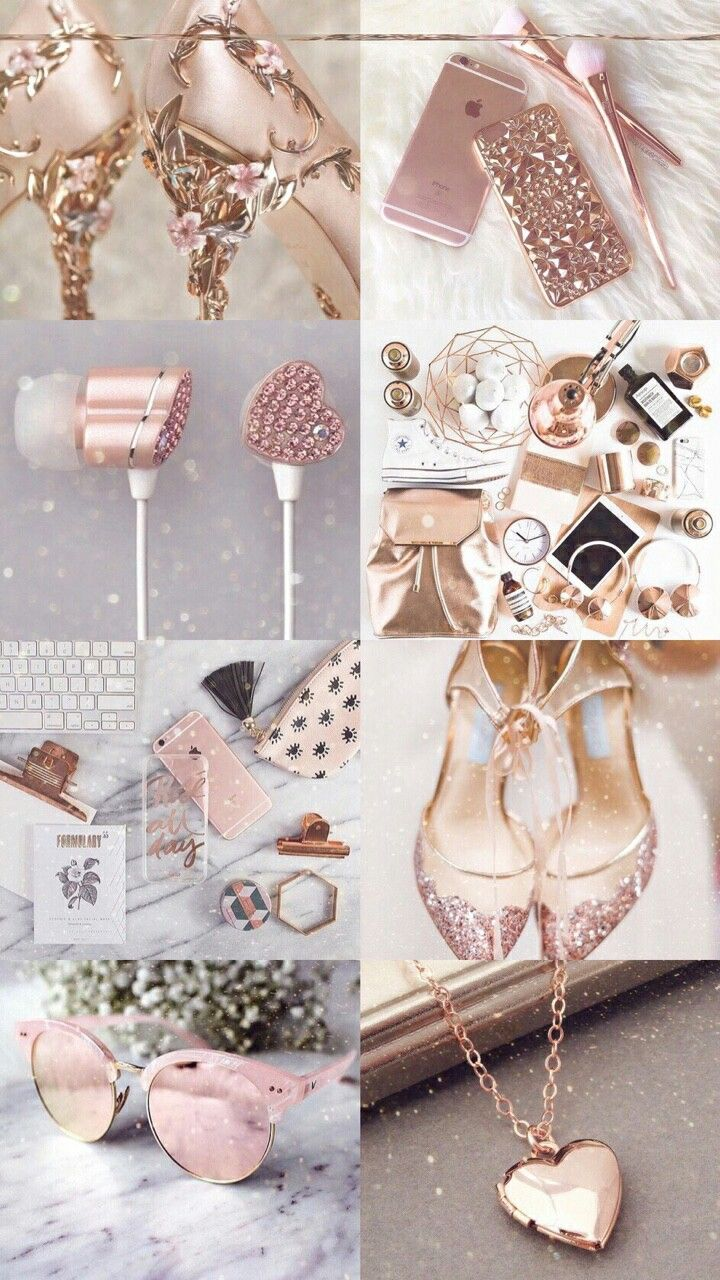Makeup iphone wallpaper tumblr - Iphone 2 Girly Things Lovely Things Iphone Wallpapers Screensaver Rose Gold Starbucks Smartphone Collages