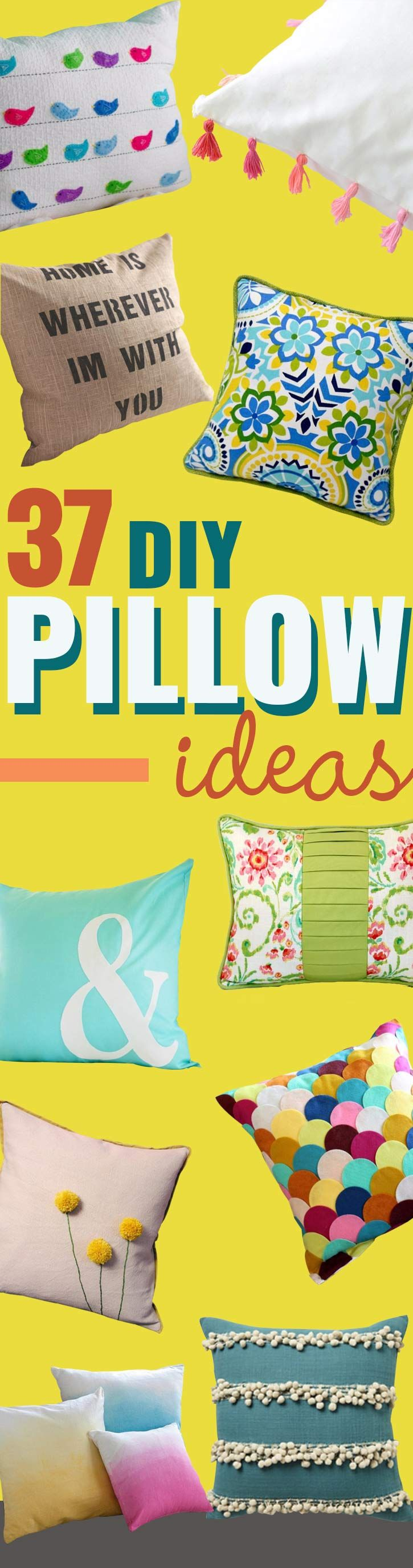 37 DIY Pillows That Will Upgrade Your Decor In Minutes & 200+ best Sewing u0026 Quilting Projects Patterns and Fabrics images on ...