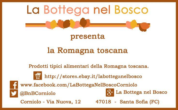 La Bottega nel Bosco di #Corniolo è un negozio di commercio elettronico con la vetrina su Ebay. Ci occupiamo di prodotti tipici alimentari della Romagna toscana. Tesori nascosti e ritrovati. Desideriamo ringraziare gli amici Daniele, Goffredo, Isabel, Ilaria, Tommaso, Serena (Serena for President), Gigliola, che hanno sostenuto il nostro progetto. Grazie di cuore. #Sangiovese #Spumante #MetodoClassico #ForlìRossoIGT #SangioveseIGTBIO #Grappa