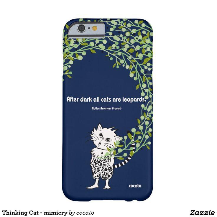 Thinking Cat - mimicry iPhone 6 ベアリーゼアケース
