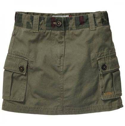 MINIGONNA PEPE JEANS JUNIOR, Minigonna per ragazza di Pepe Jeans in puro cotone color verde cachi con dettagli camouflage, tasconi laterali, passanti in vita, zip e bottone, cintura in corda inclusa. http://www.abbigliamento-bambini.eu/compra/minigonna-pepe-jeans-junior-2973412