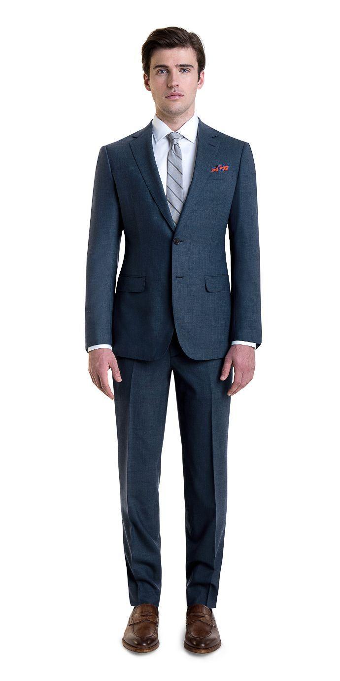 Savoy Taylors Guild Mens Grey Suit Trousers Regular Fit Birdseye Wool Pants