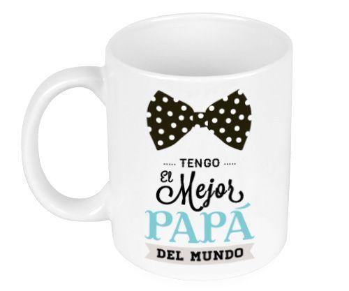 Taza Cerámica Pajarita Mejor Papá