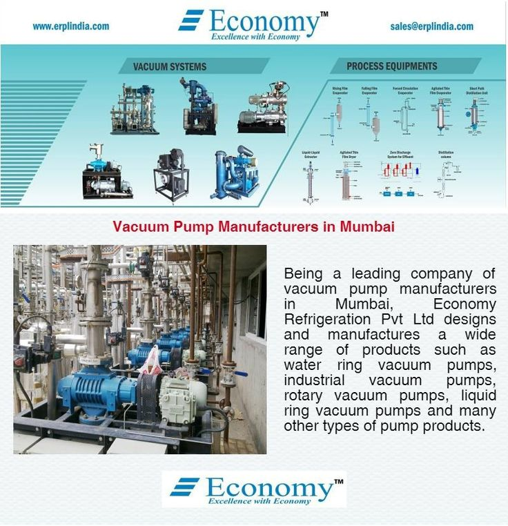 Being a leading company of vacuum pump manufacturers in Mumbai, Economy Refrigeration Pvt Ltd designs and manufactures a wide range of products such as water ring vacuum pumps, industrial vacuum pumps, rotary vacuum pumps, liquid ring vacuum pumps and many other types of pump products.